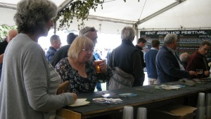 The lady got taste - punters tuck into Kent Green Hop Beer