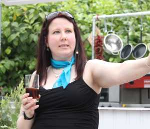 Beer sommelier Sophie Atherton - has worked for KGHBF since it began
