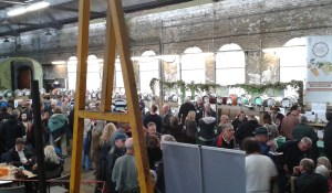 Inside the Engine Shed, which is the main site for the beer festival